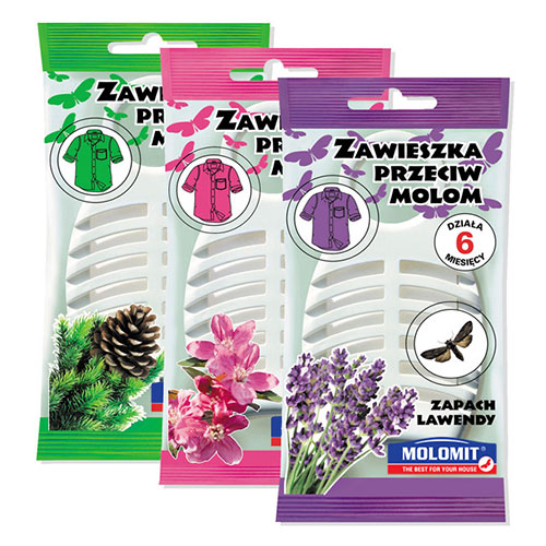 Eco zawieszka przeciw molom, 3 zapachy